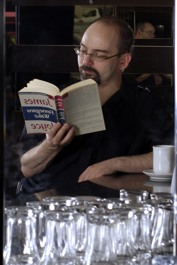 William Porquet at the Fabulous Cafe, photographed by Mina Sandiford, July 2007